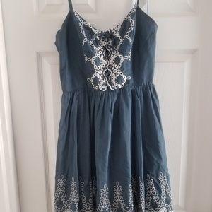 Guess blue denim dress